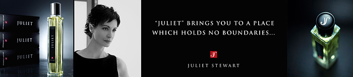 Juliet Perfume Banner - Click to View The J U L I E T Video on YouTube.