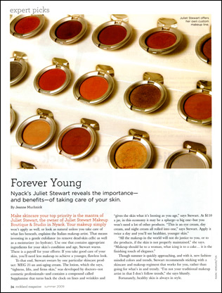 Rockland Magazine, Sum.2009, Expert Picks, 'Forever Young'.